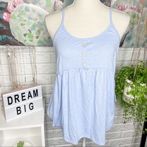 Pink Lily NEW Periwinkle Blue Tank Blouse